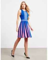 Versace - Womens Pleated Dress - Online Exclusive Blue - Lyst