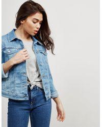 BOSS - Womens Portland Denim Jacket Blue - Lyst