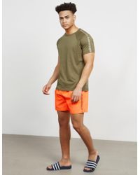Calvin Klein - Mens Side Logo Swim Shorts Orange - Lyst