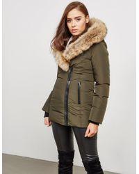 Mackage - Womens Adali Fur Padded Jacket Green - Lyst