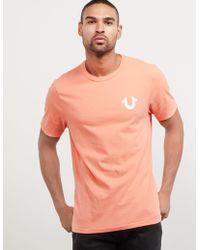 True Religion - Mens Back Buddha Short Sleeve T-shirt Peach - Lyst