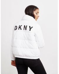 DKNY - Down Filled Jacket White - Lyst