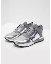 Mallet - Womens Elast Trainers Silver - Lyst