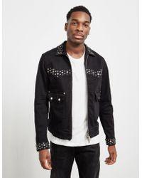 DSquared² - Studded Denim Jacket - Online Exclusive Black - Lyst