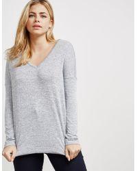 Rag & Bone - Theo Long Sleeve T-shirt Grey - Lyst