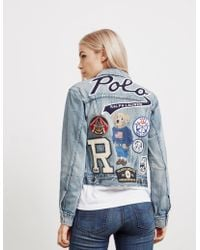 933e4763fcd Polo Ralph Lauren - Womens Bear Trucker Denim Jacket - Online Exclusive  Blue - Lyst