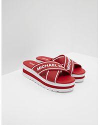 Michael Kors Demi Sport Sandals Red