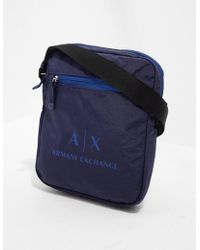 Armani Exchange - Mens Small Item Bag Navy Blue - Lyst