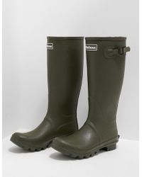 Barbour - Mens Bede Wellington Boots Green - Lyst
