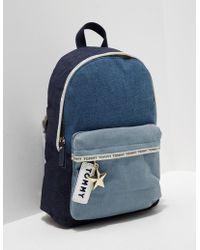 Tommy Hilfiger - Womens Logo Mini Backpack - Online Exclusive Blue - Lyst
