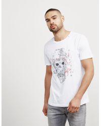 Replay - Mens Skull Short Sleeve T-shirt White - Lyst