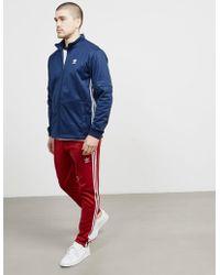 adidas Originals - Mens Trefoil Snap Track Top Navy Blue - Lyst