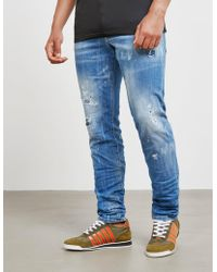 DSquared² - Mens Cool Guy Distressed Jeans Blue - Lyst
