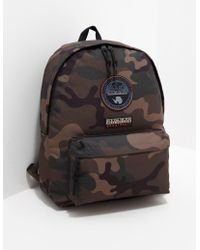 Napapijri - Mens Voyage Camo Backpack Khaki/khaki - Lyst