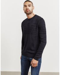 0fb07ffc3 Lyst - Gucci Eagle-intarsia Embroidered Wool Sweater in Blue for Men