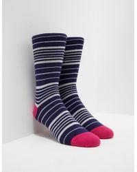PS by Paul Smith - Mens Stripe Socks Navy - Lyst