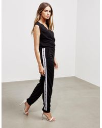 Adidas Originals Originals Velvet Long Sleeve Jumpsuit With Tonal
