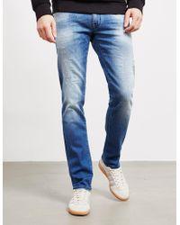 Jacob Cohen - Mens Slim Distressed Jeans Blue - Lyst