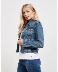 Barbour - Womens International Durness Denim Jacket Blue - Lyst