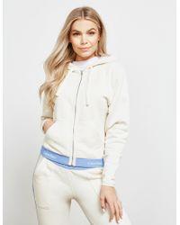 Calvin Klein - Modern Cotton Full Zip Hoodie White - Lyst