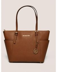 Michael Kors - Womens Jet Set Item East West Tote Bag Brown - Lyst