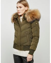 FROCCELLA - Womens Padded Bomber Jacket Green - Lyst