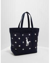 Polo Ralph Lauren - Mens Stars Tote Bag - Online Exclusive Navy Blue - Lyst