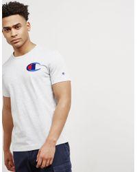 Champion - Mens Medium Logo Short Sleeve T-shirt White - Lyst