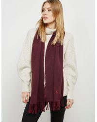 Polo Ralph Lauren | Womens Blended Scarf Burgundy/burgundy | Lyst