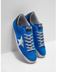 Golden Goose Deluxe Brand - Superstar Sneakers Blue - Lyst