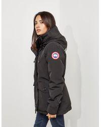 Canada Goose - Rideau Padded Parka Jacket Black - Lyst