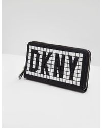 DKNY - Tilly Logo Zip-around Wallet - Lyst