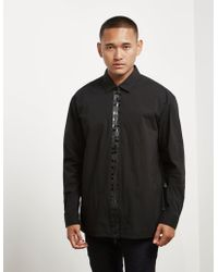 HUGO - Mens Eiry Zip Long Sleeve Shirt - Online Exclusive Black - Lyst
