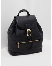 COACH - Evie Pebble Backpack Black - Lyst
