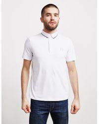 Armani Exchange - Mens Tipped Short Sleeve Polo Shirt White - Lyst