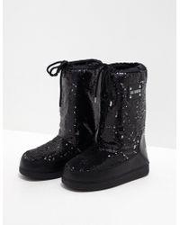 Love Moschino - Glitter Boots Black - Lyst