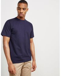 Armor Lux - Mens Callac Short Sleeve T-shirt Navy Blue - Lyst