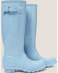 HUNTER - Womens Tall Gloss Boot - Online Exclusive Blue - Lyst