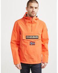 Napapijri - Mens Rainforest Padded Jacket Orange - Lyst