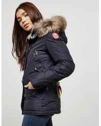 Parajumpers - Womens Doris Padded Parka Jacket Navy Blue - Lyst