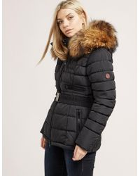 FROCCELLA - Womens Belted Padded Jacket Black - Lyst
