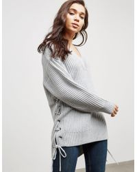 Rag & Bone - Womens Ivy V-neck Jumper - Online Exclusive Grey - Lyst