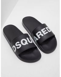 DSquared² - Mens Slides Black - Lyst