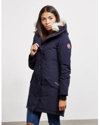 Canada Goose - Rossclair Padded Parka Jacket Blue - Lyst