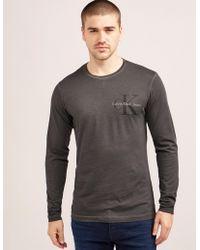 CALVIN KLEIN 205W39NYC - Mens Tribute 2 Long Sleeve T-shirt Grey - Lyst