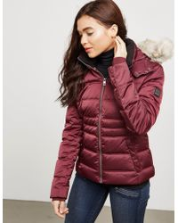 CALVIN KLEIN 205W39NYC - Womens Ovidia Hooded Padded Jacket Red, Red - Lyst