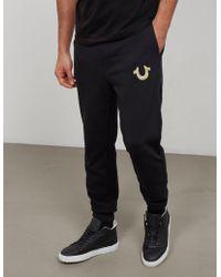 True Religion - Mens Gold Puff Cuffed Track Pants Black - Lyst