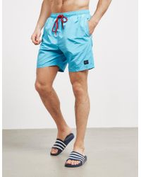 Paul & Shark - Badge Swim Shorts Blue - Lyst