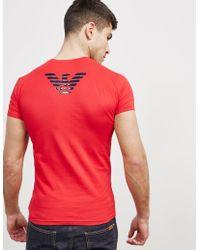 Emporio Armani - Mens Shiny Eagle Back Short Sleeve T-shirt Red - Lyst