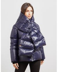 Mackage - Womens Miri Scarf Padded Jacket Navy Blue - Lyst